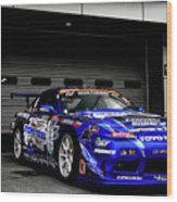 7763 Nissan Tuning Race Cars Blue Cars Selective Coloring Wood Print
