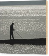 78. One Man And His Rod Wood Print