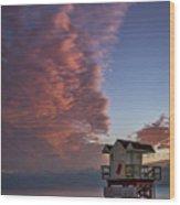 7826- Miami Beach Sunrise Wood Print