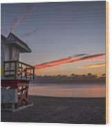 7935- Miami Beach Sunrise 14x25 Wood Print