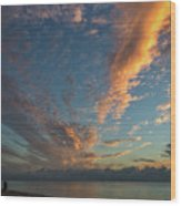 7972- Miami Beach Sunrise Wood Print