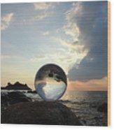 8-26-16--5878 Don't Drop The Crystal Ball, Crystal Ball Photography Wood Print