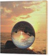 8-26-16--5927 Don't Drop The Crystal Ball, Crystal Ball Photography Wood Print