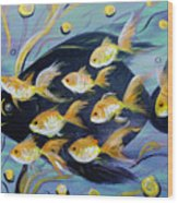 8 Gold Fish Wood Print