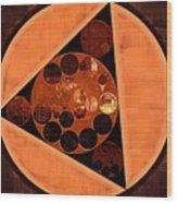 Abstract Painting - Zinnwaldite Brown Wood Print