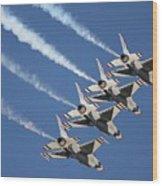 Air Show Wood Print
