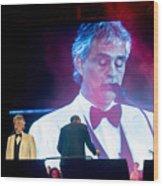 Andrea Bocelli In Concert Wood Print