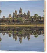 Angkor Wat Wood Print by MotHaiBaPhoto Prints