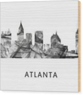 Atlanta Georgia Skyline Wood Print