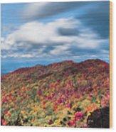 Beautiful Autumn Landscape In North Carolina Mountains Wood Print