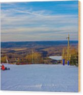 Beautiful Winter Landscape At Timberline West Virginia Wood Print
