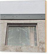 Broken Window Wood Print