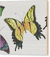 8 Butterflies Wood Print