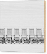 8 Chairs... - 8 Chaises... Wood Print