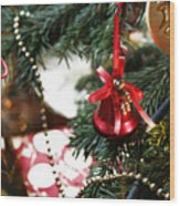 Christmas Tree Decorations Wood Print
