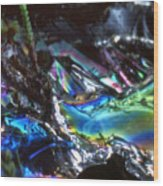 8. Close-up Ice Prismatics, Slaley Sand Quarry Wood Print