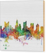 Columbus Ohio Skyline Wood Print
