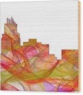 Durham North Carolina Skyline Wood Print