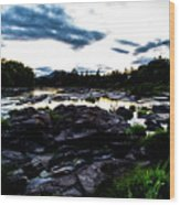 Elkton River Wood Print