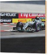 Formula 1 Monaco Grand Prix 2016 Wood Print