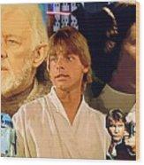 Galaxies Star Wars Poster Wood Print