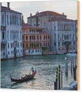 Gondola, Canals Of Venice, Italy Wood Print
