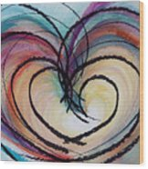 Hearts By Barb Wood Print