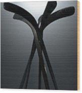Ice Hockey Stick Array Wood Print