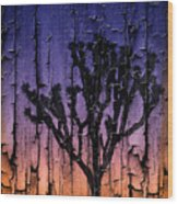 Joshua Tree With Special Effects Wood Print