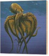 8 Legs Of The Sea Wood Print