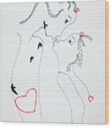 Love Is A Heart Wood Print