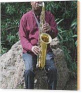 Muslim Jazz Musician. Wood Print