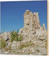 Natural Rock Formation At Mono Lake, Eastern Sierra, California, Wood Print