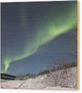 Northern Lights Wood Print