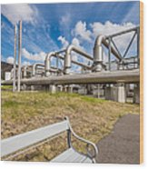 Pipes At Nesjavellir Geothermal Power Wood Print