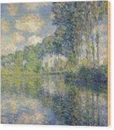 Poplars, On The Epte Wood Print