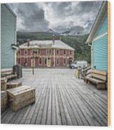 Port Of Skagway Alaska Near White Pass British Columbia Canada Wood Print