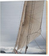 Rigg Of A Tall Ship Wood Print