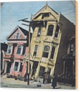 San Francisco Earthquake Wood Print