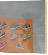 8 Sneakers Wood Print