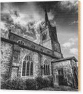 St Andrews Church Hornchurch Wood Print