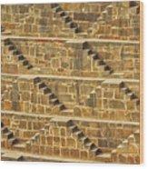 Steps At Chand Baori Wood Print