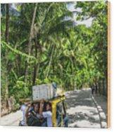 Tuk Tuk Trike Taxi Local Transport In Boracay Island Philippines Wood Print
