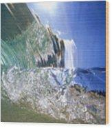 Underwater Wave Wood Print
