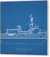 U.s. Coast Guard Cutter Polar Sea Wood Print
