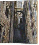 Walking Through The Streets Of Pretoro - Italy  Wood Print