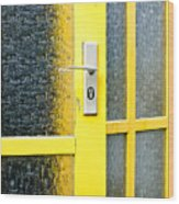Yellow Door Wood Print