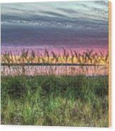 Yorktown Beach At Sunrise Wood Print