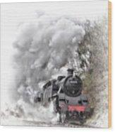 80072 Steaming In The Rain Wood Print