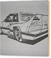 80s Mustang - Rear View Wood Print